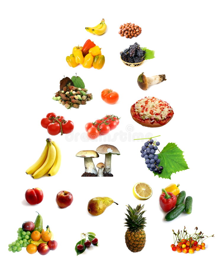 Food in guide pyramid stock photo