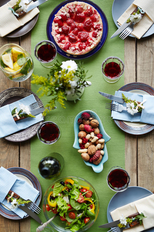 Food for holiday stock image