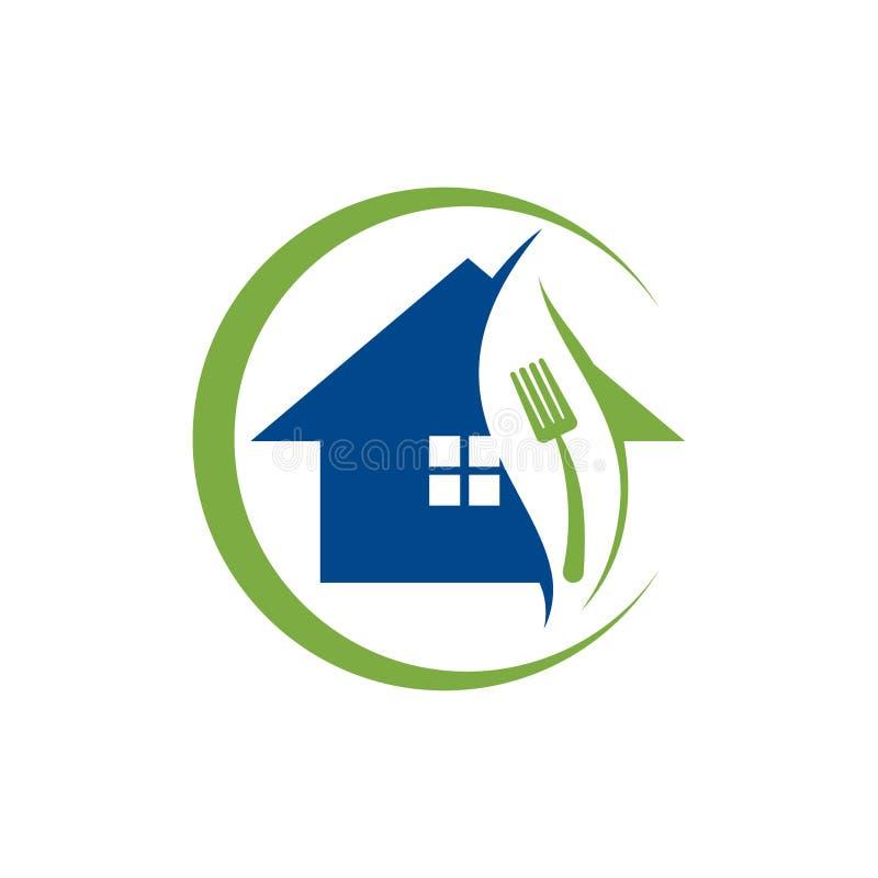 Food House, Restaurant Logo Template, шаблон дизайна логотипа Home Food иллюстрация штока