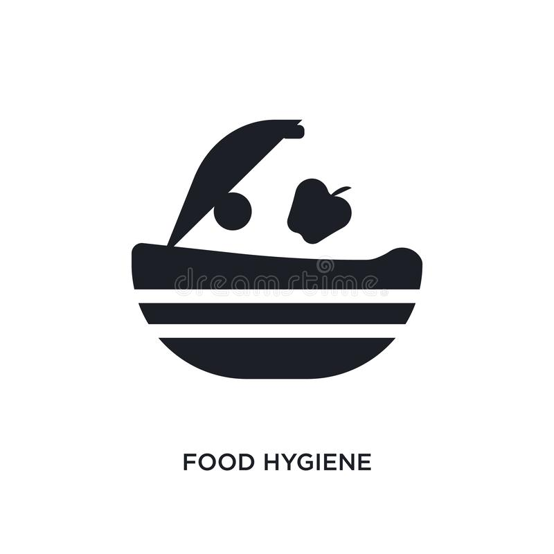 food hygiene isolated icon. simple element illustration from hygiene concept icons. food hygiene editable logo sign symbol design stock illustration
