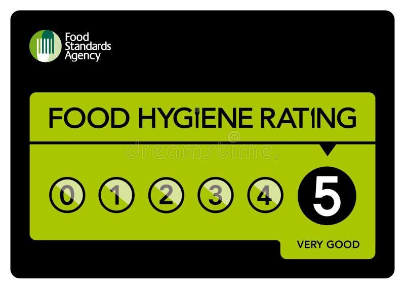 Food Hygiene Rating 5 royalty free illustration