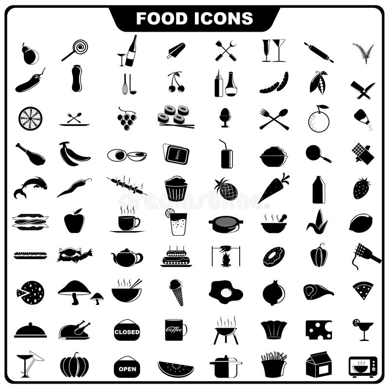 Download Food Icon stock vector. Image of cherry, coffee, bottle - 27213382