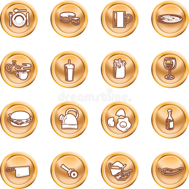Download Food Icon Button Series Set Stock Vector - Image: 2862456