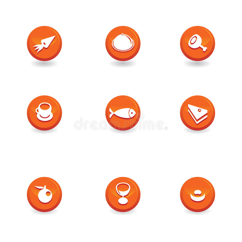 Download Food icon buttons stock vector. Image of apple, glass - 12046917