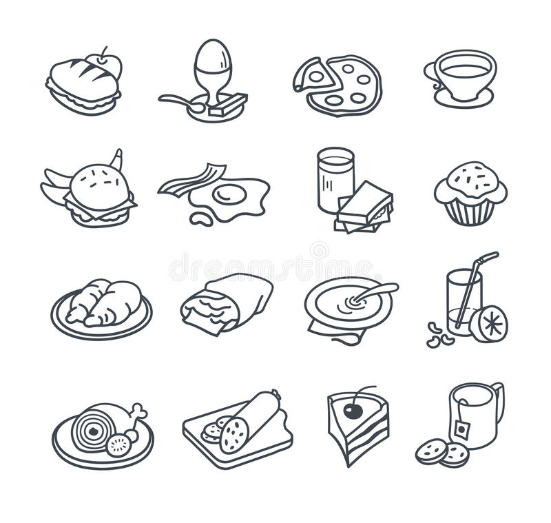 Food Icon Collection stock illustration