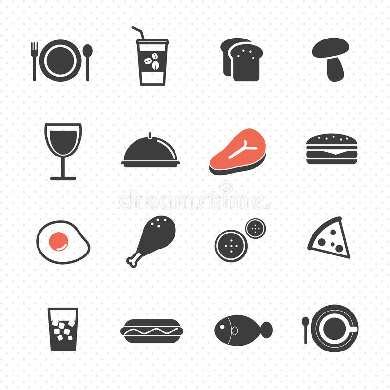 Food icon. On polka dot background vector