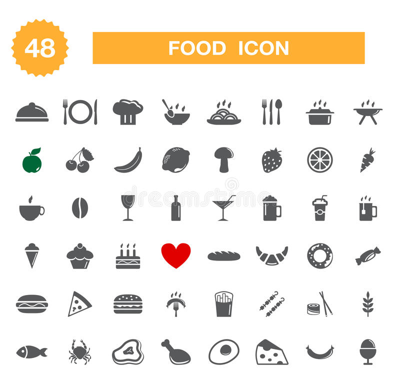 Free Food Icon - Set. Stock Photography - 33136342