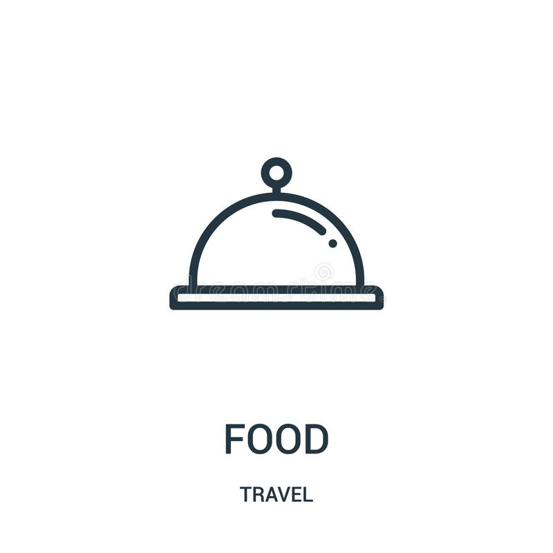Food icon vector from travel collection. Thin line food outline icon vector illustration. Linear symbol for use on web and mobile. Apps, logo, print media vector illustration