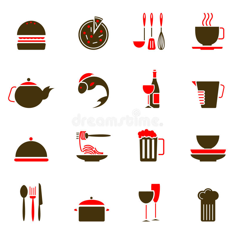 Download Food icons stock vector. Image of service, beverage, element - 13031324
