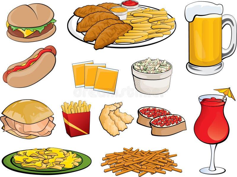Food Icons royalty free illustration