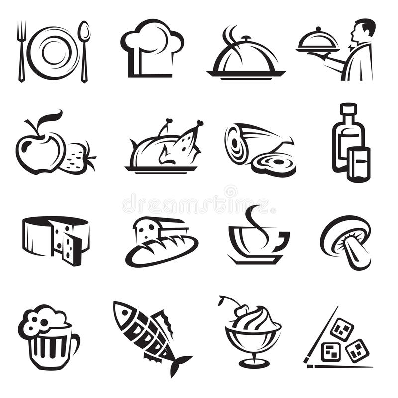 Free Food Icons Stock Photography - 19567462
