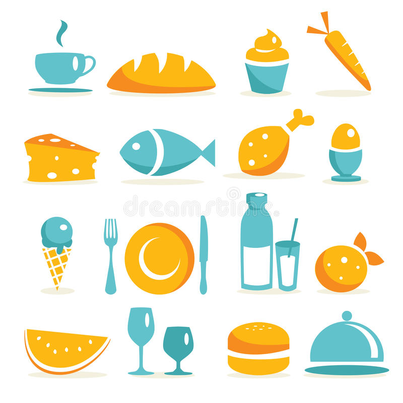 Food Icons Royalty Free Stock Image