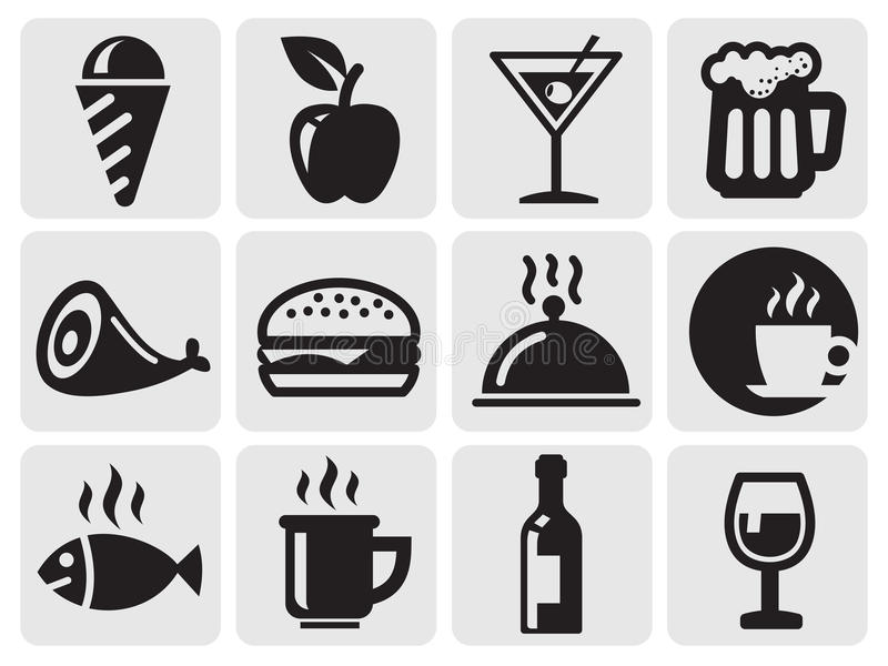 Download Food icons stock vector. Illustration of fish, meat, cheeseburger - 25824888