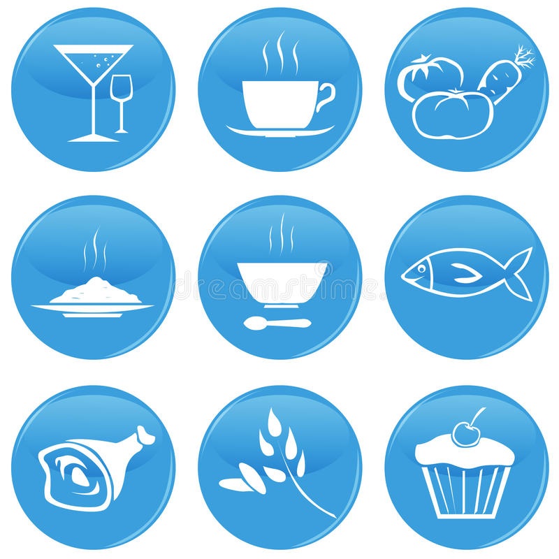 Download Food icons stock vector. Image of course, food, icon - 25873988