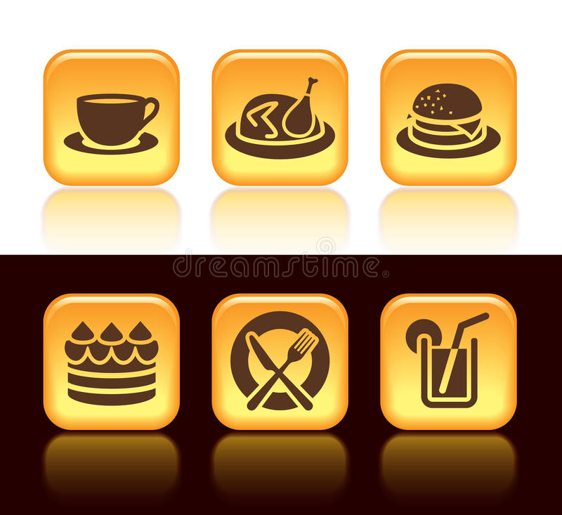 Download Food icons stock vector. Illustration of black, icon - 28154924