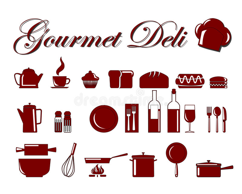 Food icons 3 vector illustration
