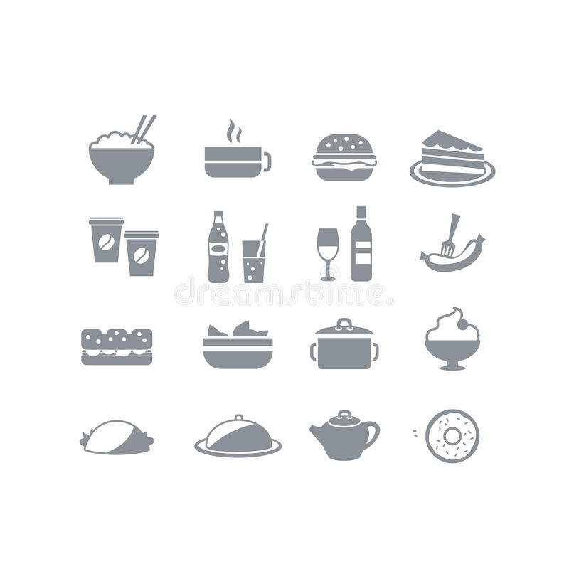 Free Food Icons Royalty Free Stock Photo - 34516175