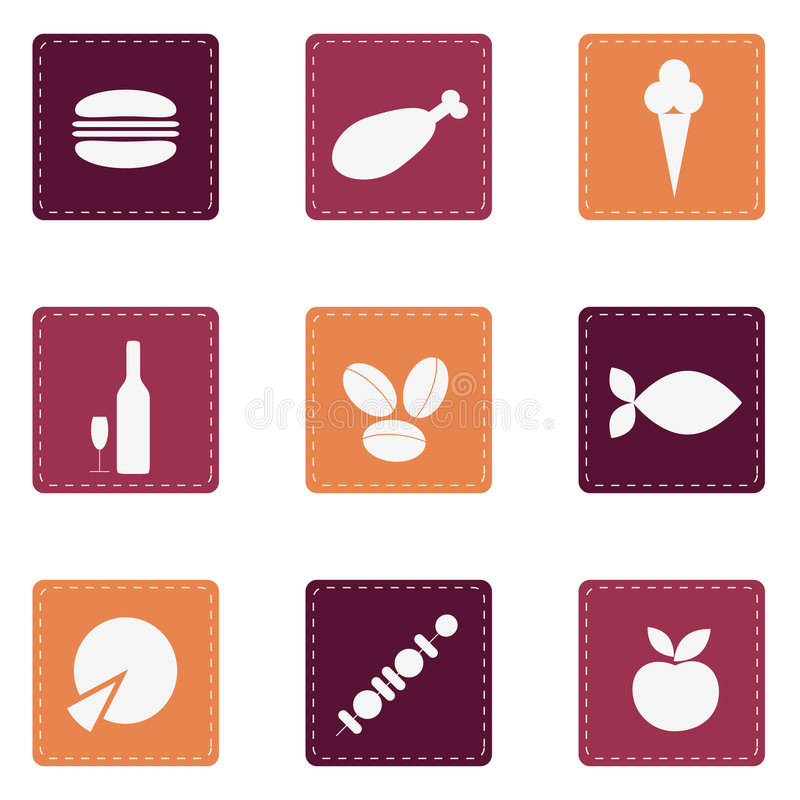 Download Food Icons Stock Photo - Image: 8676530