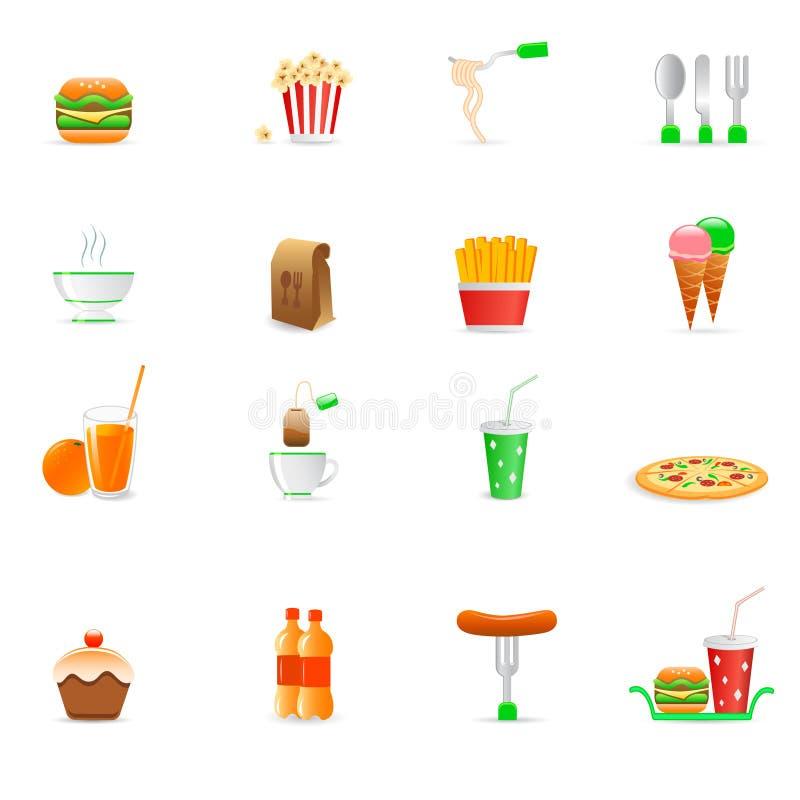 Food icons stock illustration