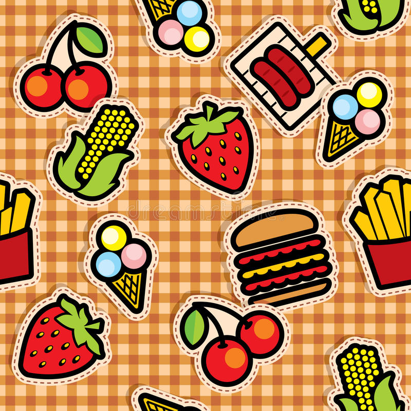 Food icons background vector illustration