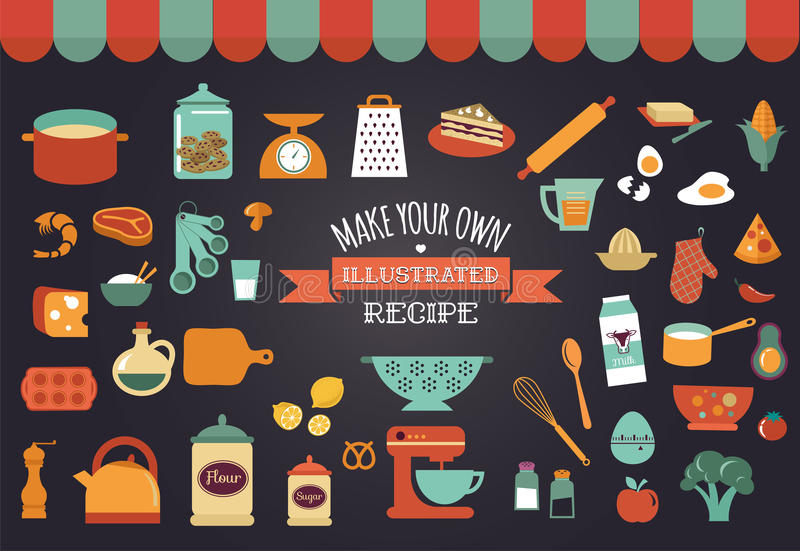 Download Food Icons And Illustrations - Vector Collection Stock Vector - Image: 42293856