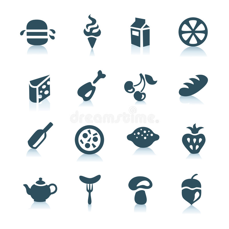 Food icons, part 1 stock photos