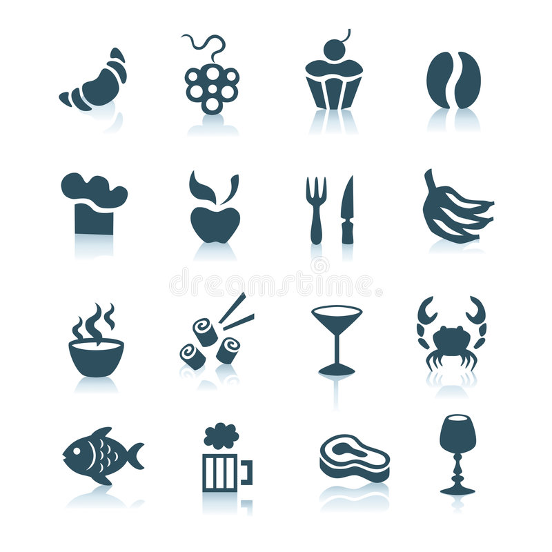 Food icons, part 2 royalty free stock photos