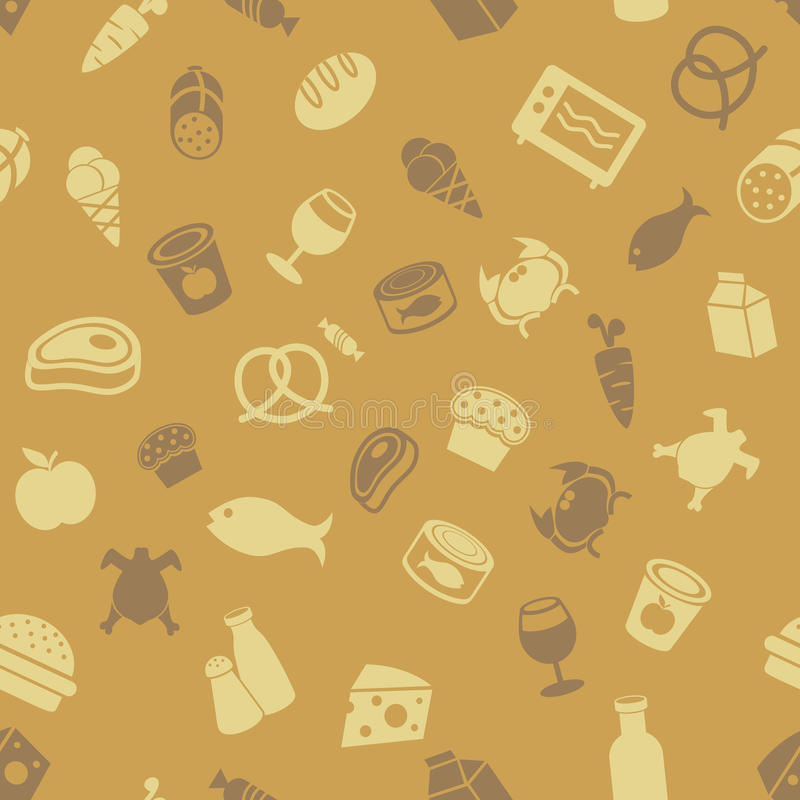 Download Food icons pattern stock vector. Image of deli, bakery - 20312674