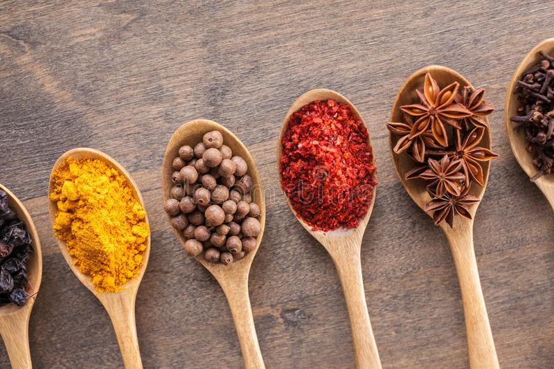 Food. Indian gourmet spice background asian vegetarian stock photography