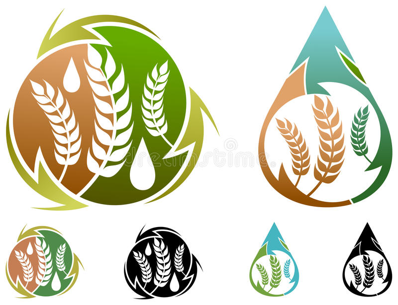 Food industry logo. Isolated illustrated food industry logo design royalty free illustration