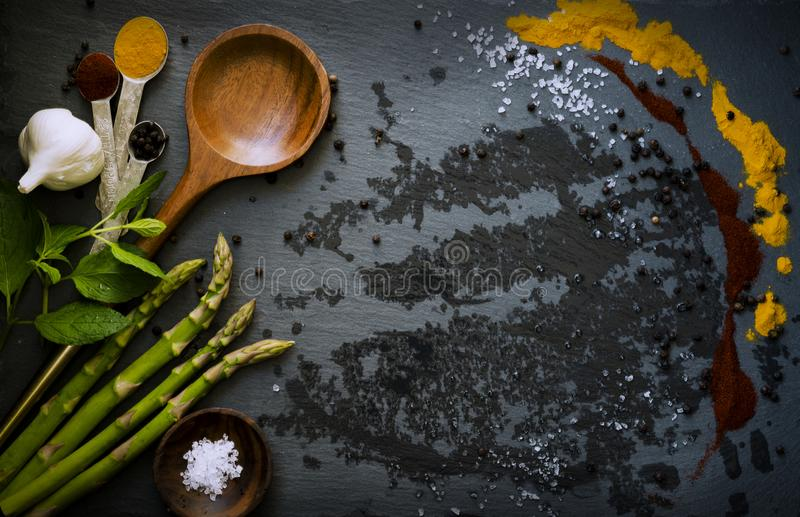 Food Ingredients Including Asparagus And Garlic Free Public Domain Cc0 Image