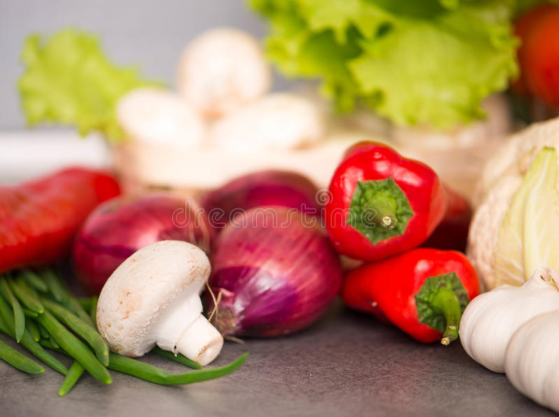 Food ingredients on the table. Closeup shot royalty free stock photo