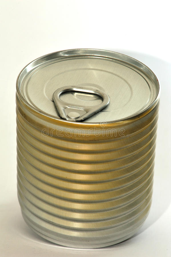 Food jar. The image depicts a can or jar of food with pull-tab, the subject was photographed with diffuse light, so as not to create reflections and have a stock photos