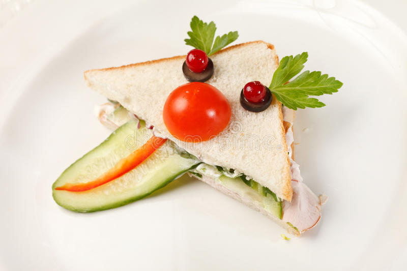 Food for kids. On plate royalty free stock photos