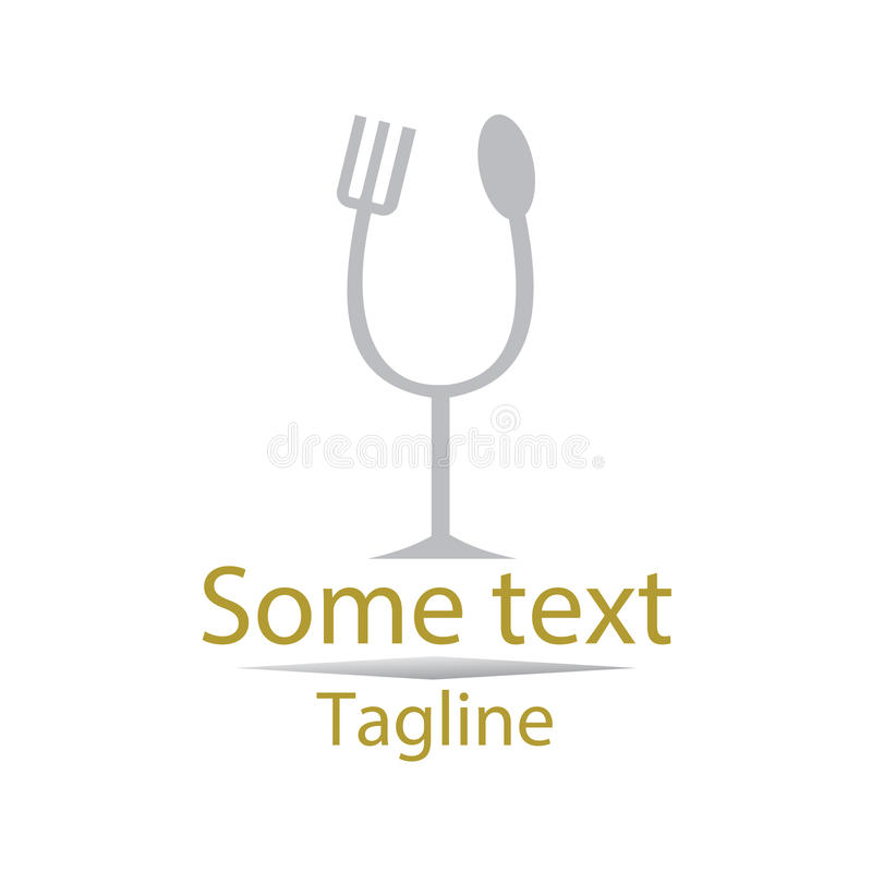 Food logo. Logo for a dine, or a restaurant. Intended for use in the food industry stock illustration