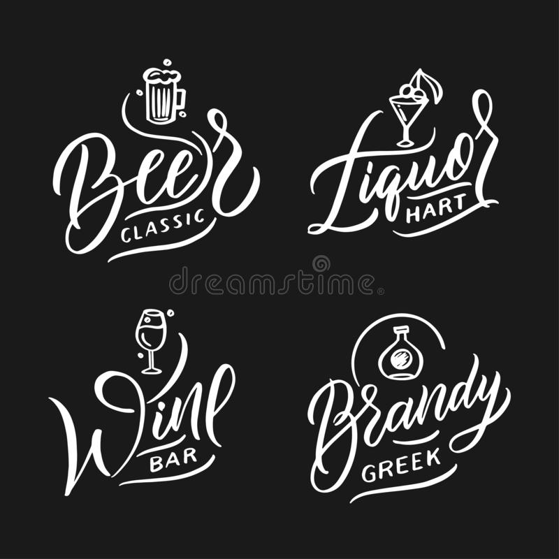 Food logo doodle design template set vector illustration