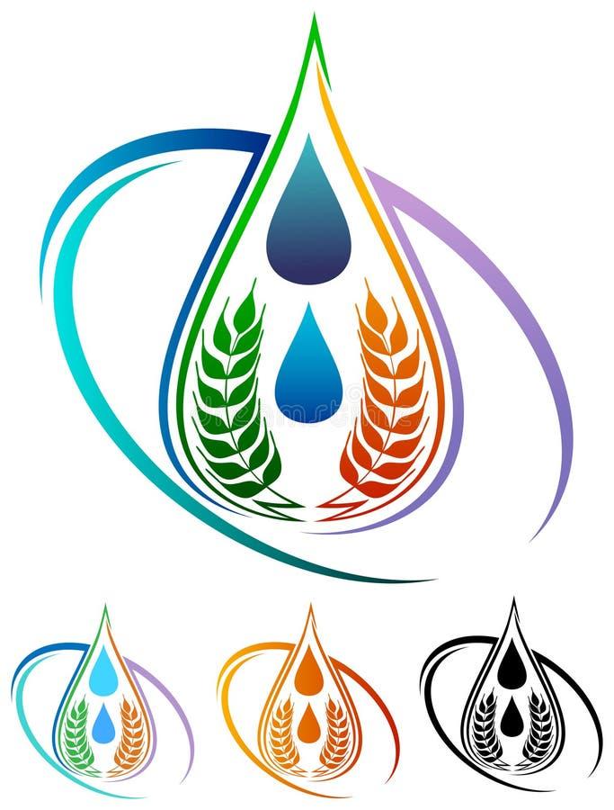 Food logo. Isolated illustrated food logo design stock illustration