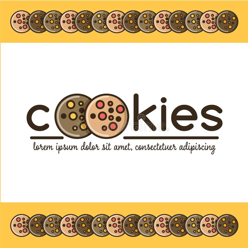 Free Food Logotype With Cookies Royalty Free Stock Photo - 124443165