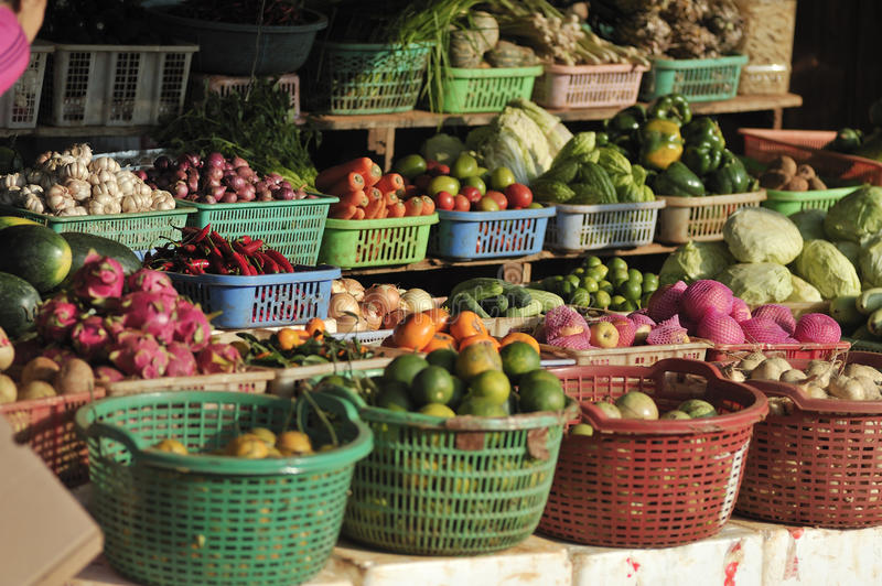 Food Market of Cambodia. Asia royalty free stock images