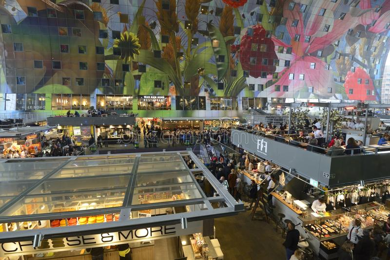 Food Market Hall Rotterdam royalty free stock photo