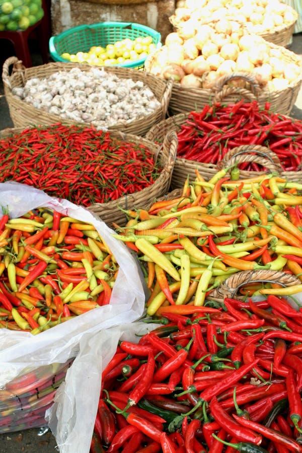 Food Market, Ho Chi Minh royalty free stock photo