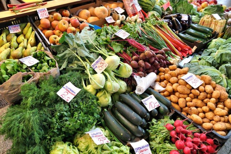 Food market in Poland royalty free stock photos