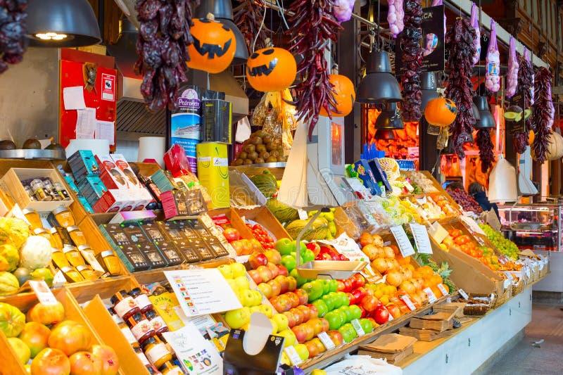 Food market San Miguel, Madrid stock image