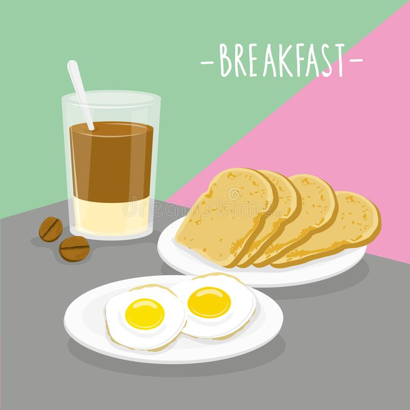 Food Meal Breakfast Dairy Eat Drink Menu Restaurant Vector royalty free illustration