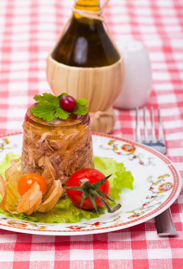Food - meat jelly stock photo