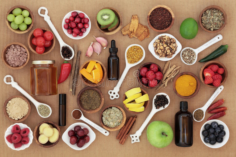Food and Medicine for Cold Remedy royalty free stock photo
