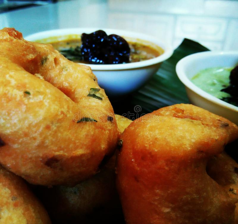 Food. Medu vada south Indian stock photos