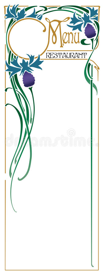 Download Food Menu stock vector. Image of eatery, entree, list - 12745299
