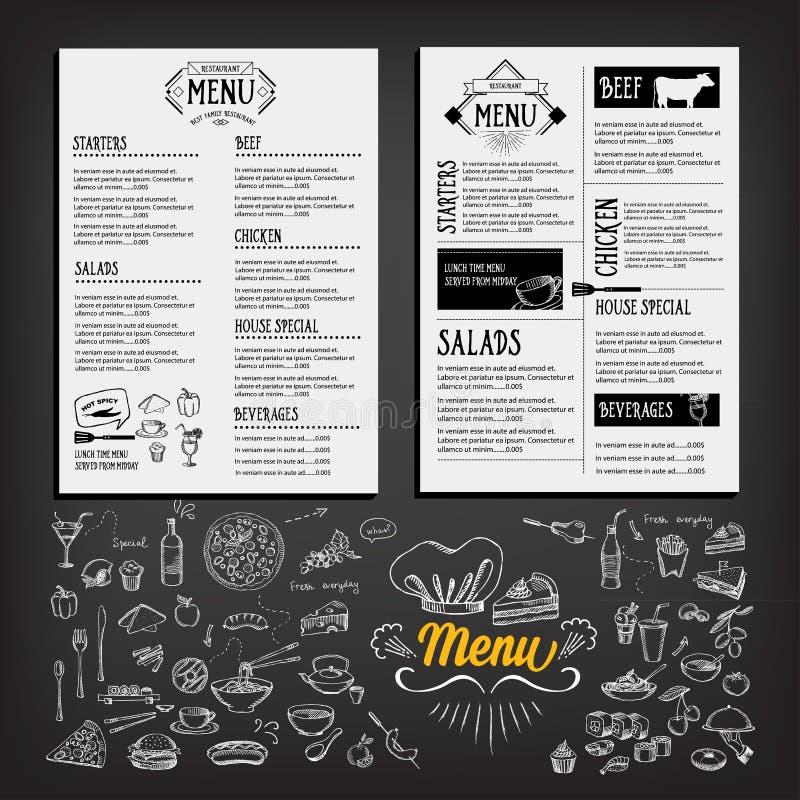 Food Menu, Restaurant Template Design. Flyer Cafe. Brochure Vint ...