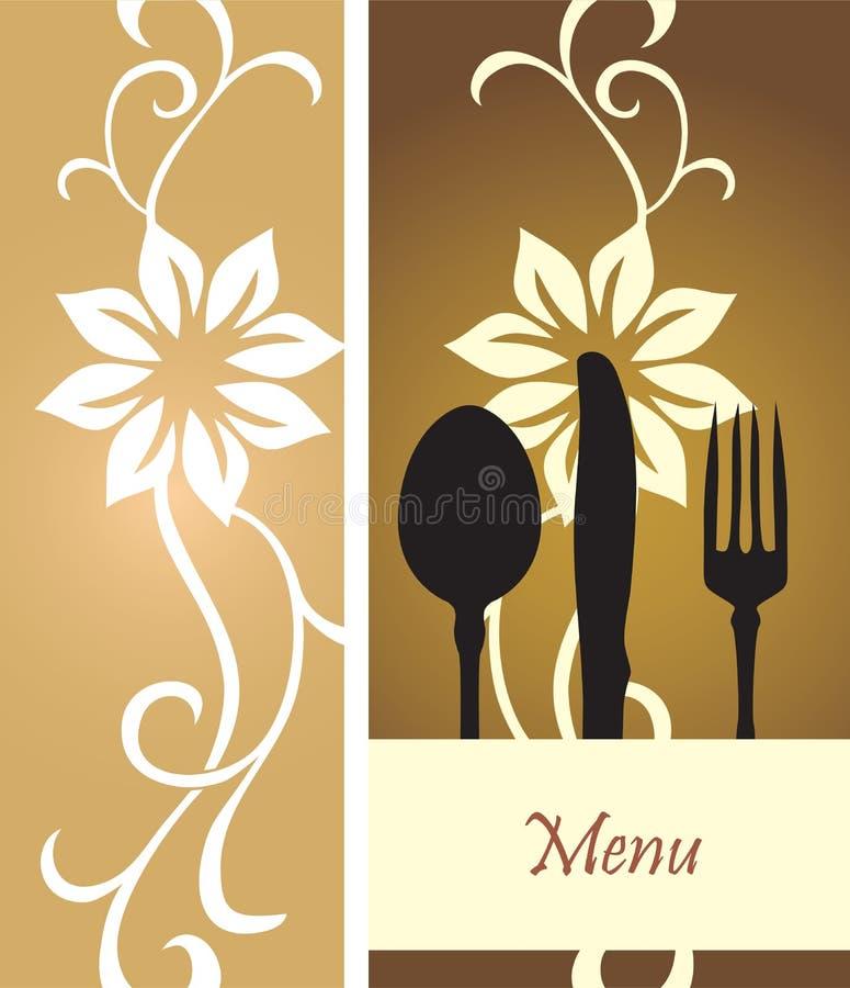 Food menu vector stock illustration